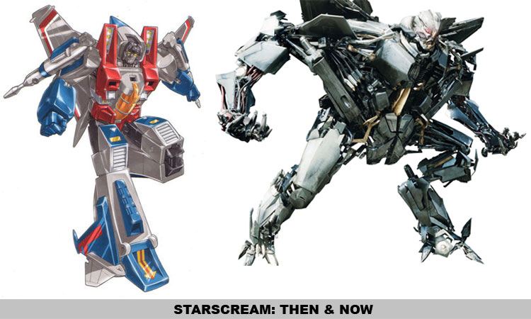 Starscream: : Then & Now