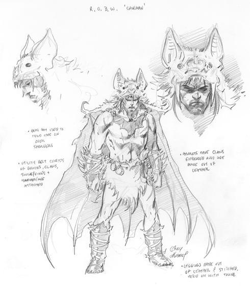 Bruce Wayne - caveman sketch