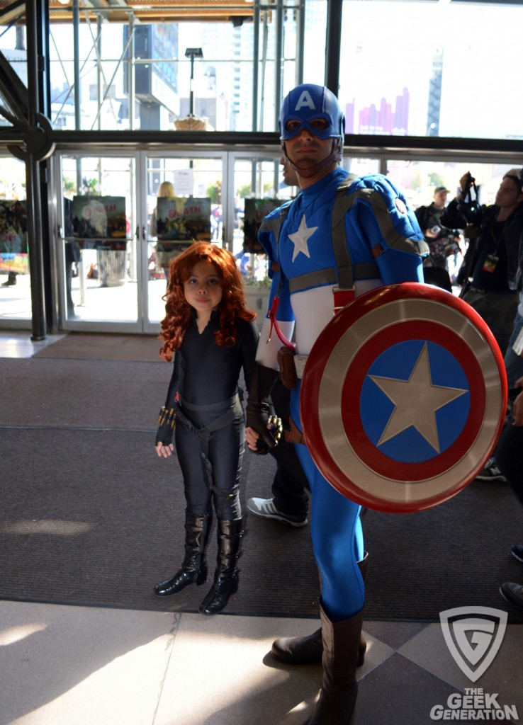 NYCC 2011 - Captain America and Black Widow kid