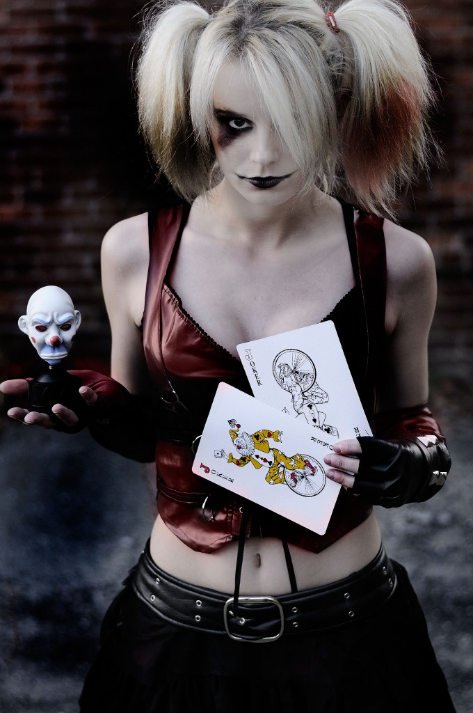Harley quinn cosplay flash