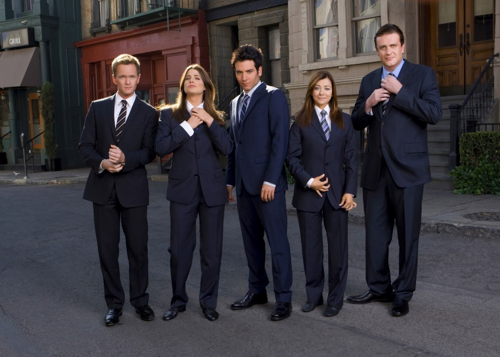 How I Met Your Mother - suit up cast photo