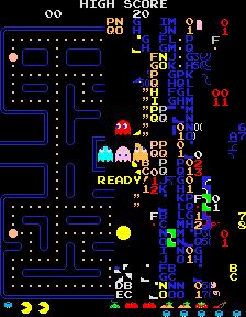 Pac-Man - split-screen kill screen