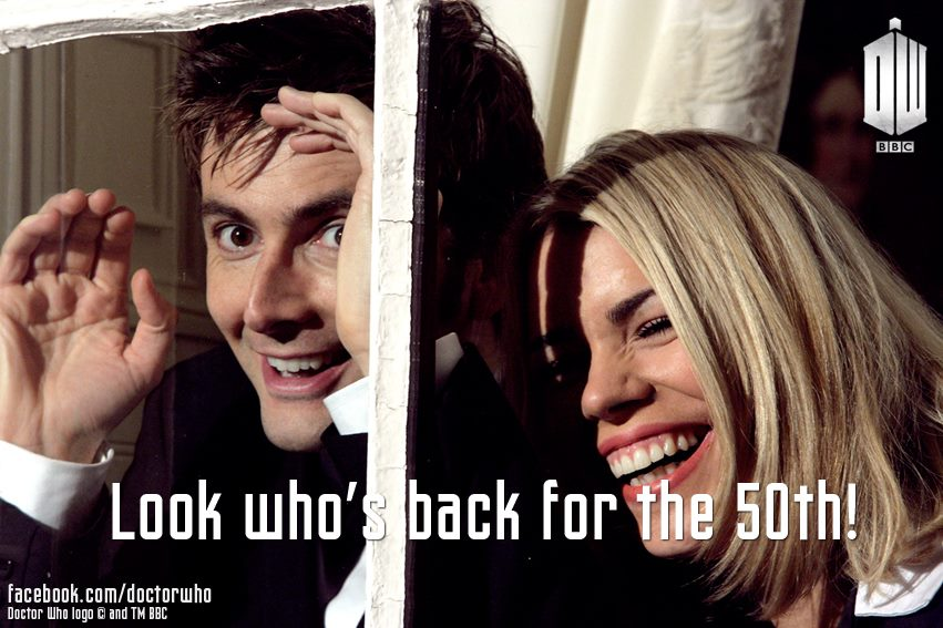 Doctor Who - David Tennant and Billie Piper - 50th anniversary