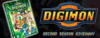 We're thrilled to be giving away a copy of The Official Digimon Adventure Set: The Complete Second Season, along with other great Digi-prizes.