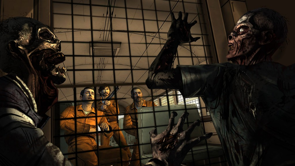 The Walking Dead - 400 Days - prison bus