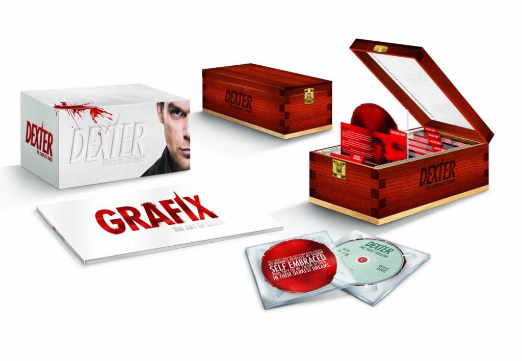 Dexter - The Complete Series - blood slide packaging