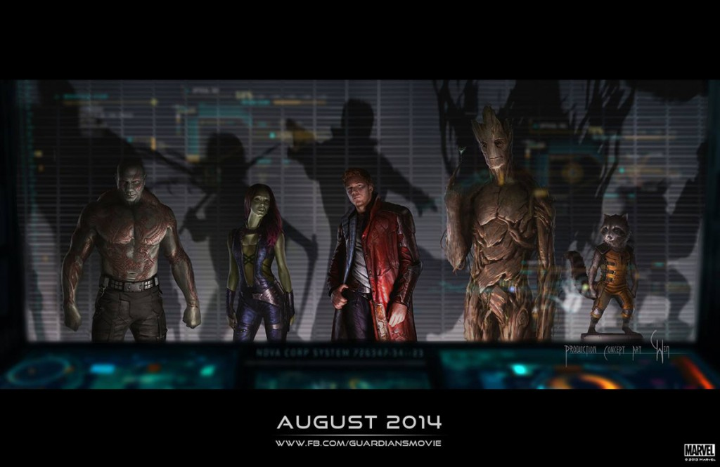 Guardians of the Galaxy - cast art
