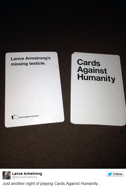 Lance Armstrong - Cards Against Humanity