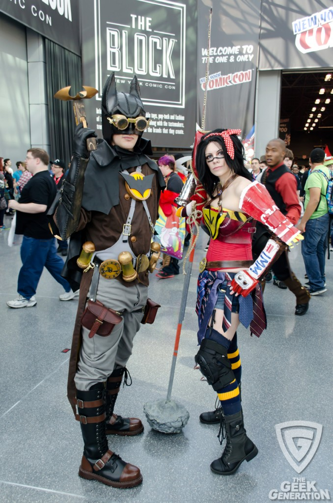 NYCC 2013 - Atomic Wonder Woman and Steampunk Batman
