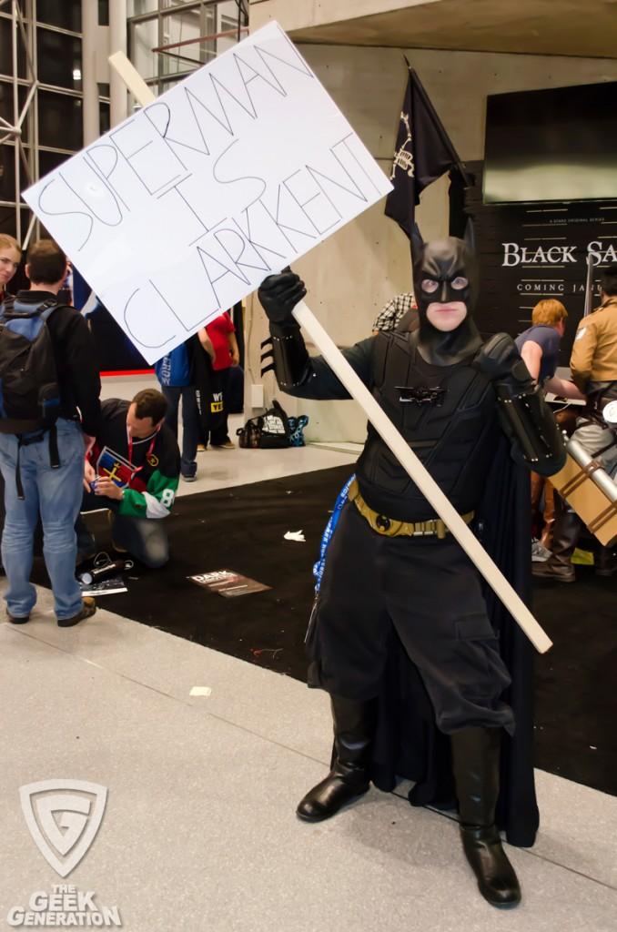 NYCC 2013 - Batman hates Superman