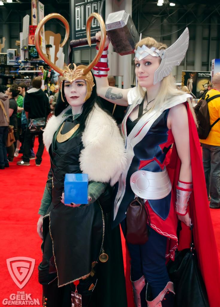 NYCC 2013 - Loki and Thor