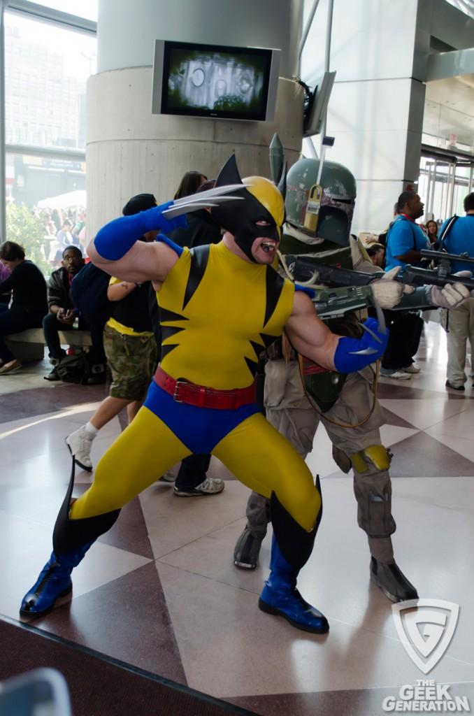 NYCC 2013 - Wolverine and Boba Fett