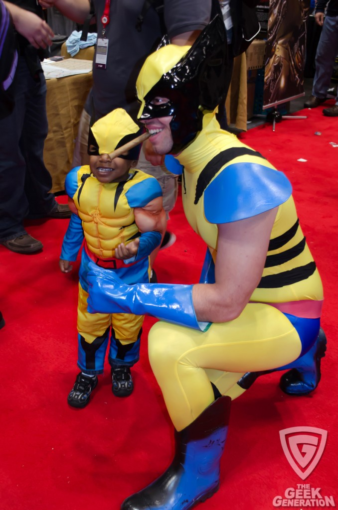 NYCC 2013 - Wolverine and little Wolverine
