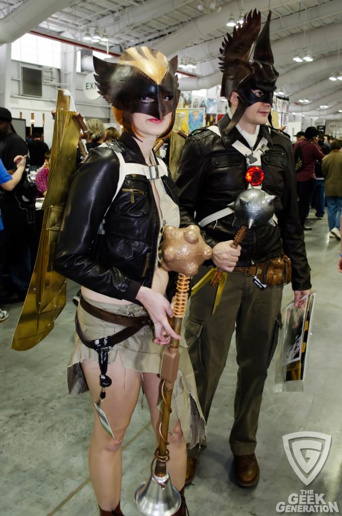NYCC 2013 - steampunk Hawkman and Hawkgirl