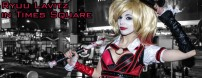 We did a shoot at Times Square in New York with Ryuu Lavitz in her Arkham Knight Harley Quinn costume.