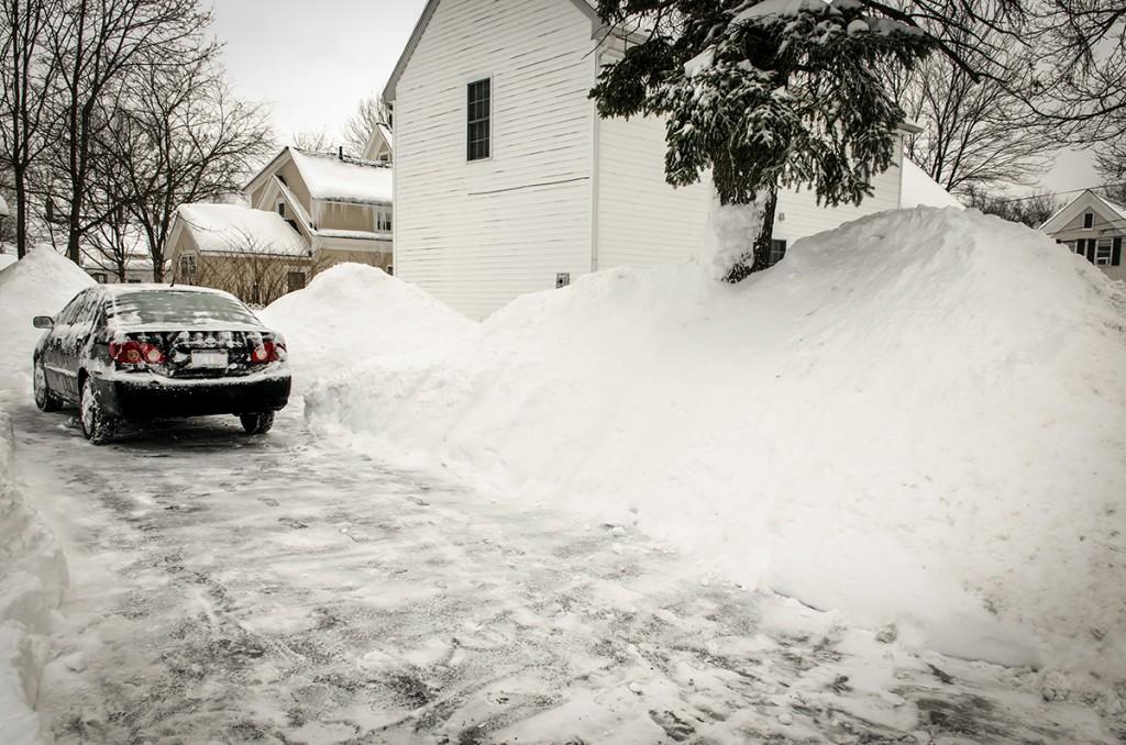 snowpocalypse 2015 - shoveled driveway