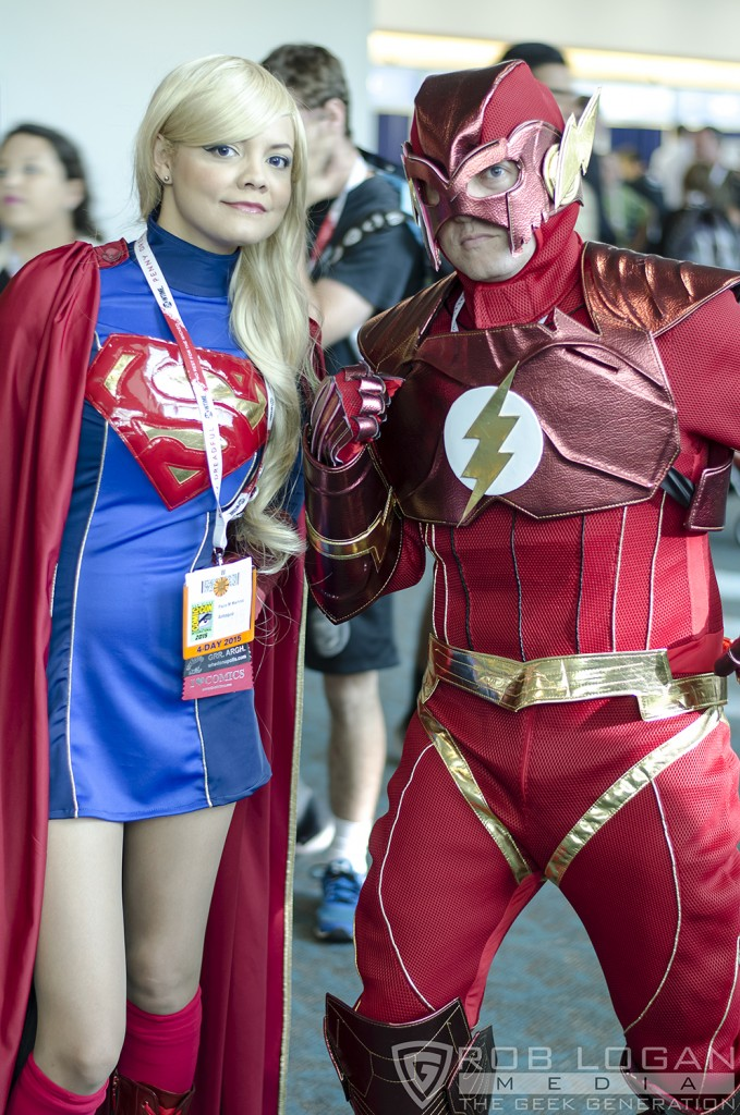 SDCC 2015 - Supergirl and Flash