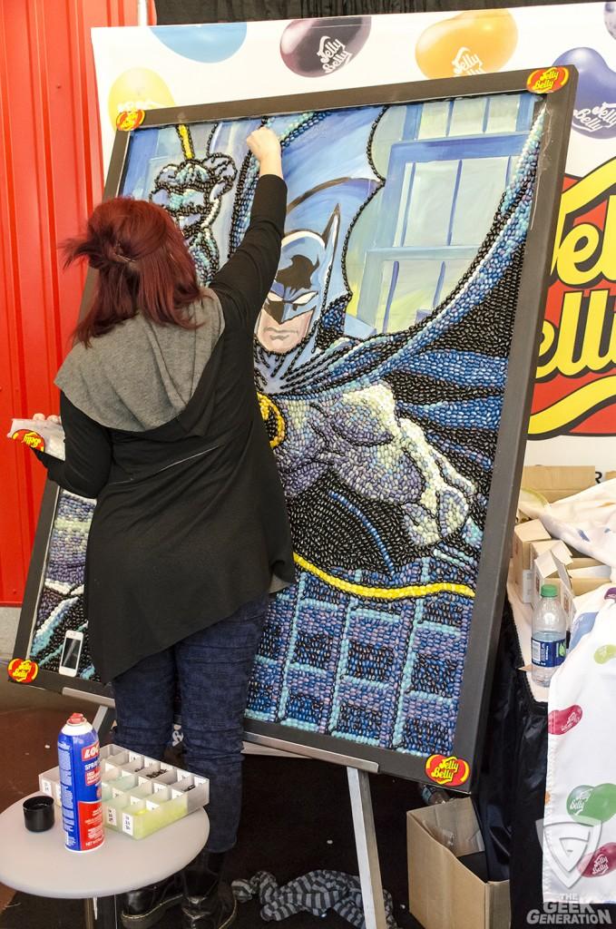NYCC 2015 - Jelly Belly Batman in progress