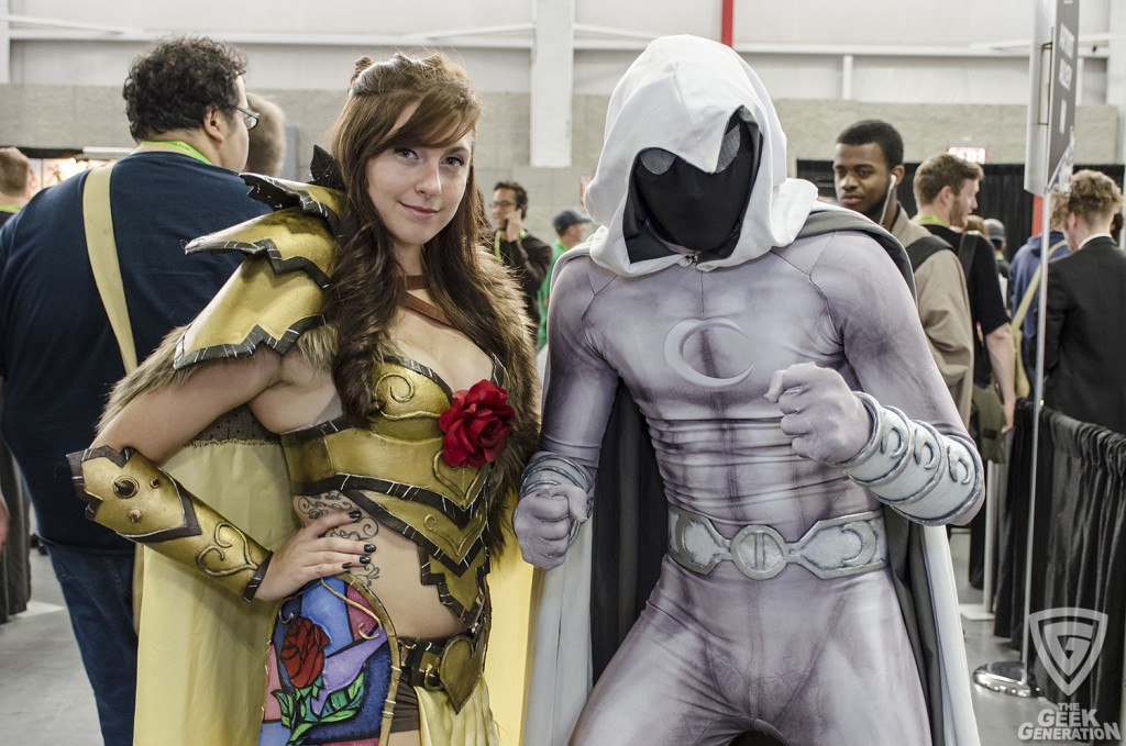 NYCC 2015 - armored Belle and Moon Knight