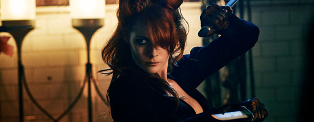 Our interview with Emily Beecham, who plays The Widow on AMC's Into the Badlands, about her amazing fight scenes, the character of The Widow, filming Season 2, and what she geeks out about.