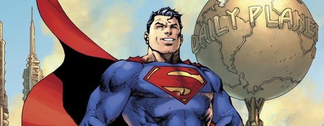 The Jim Lee-drawn cover features a new costume that integrates a variety of classic and new elements, including the Man of Steel's trademark red trunks.